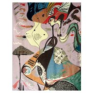 Andre Masson 1896-1987 signed woven tapestry