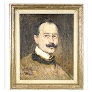 Canadian Henri Beau Painting 1863-1949 L'Ere de la Moustache