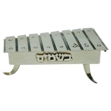 Judaica Sterling Silver Xylophone Besamin Holder by Nadav Art