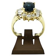 Solid yellow gold 18k ladies ring