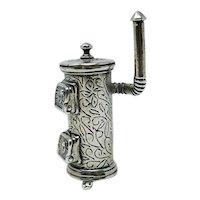 Uno A Erre Italy Silver 800 Miniature Stove