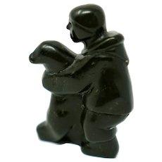 Inuit Eskimo Sculpture by Qaunaq Palluq