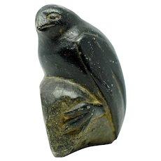 Inuit Sculpture of a Bird on a Rock
