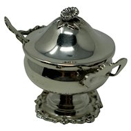 Sterling Silver Mustard Pot with spoon
