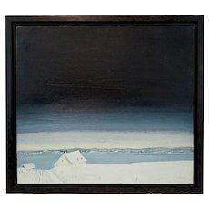 Claude Picher Painting entitled Isle D'Orleans 1974