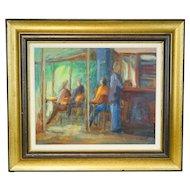 C. Poirie Painting Restaurant Scene