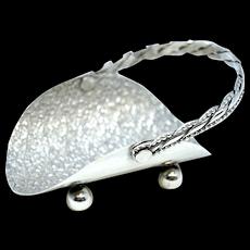 J.W.R. Sterling Silver Handmade Basket