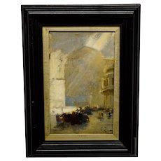 Felix Ziem Painting Rue Animee Porte D'Orient