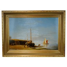 Peter J. Sterkenburg Dutch Painting of a Marina