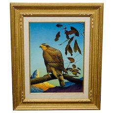 Lloyd Fitzgerald Painting Falcon Landscape