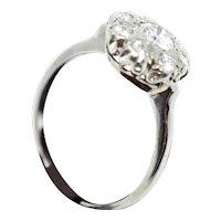18k White Gold Diamond Woman's Ring