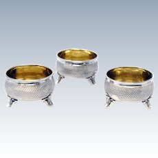 Silver 800 Set of 3 Open Salts