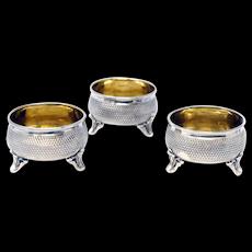 Silver 800 Set of 3 Open Salts