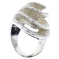 Brutalist Modernist Sterling Silver Ring