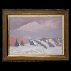 Archibald Browne Winter Scene Painting
