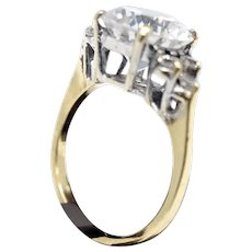 10k Yellow Gold CZ Engagement Ring