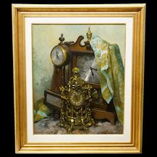 Alexis Arts Painting Orloge Antique