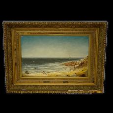 Unidentified 19th Century Seashore signed monogram