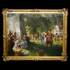 Friedrich Peter Hiddeman Painting Festivity