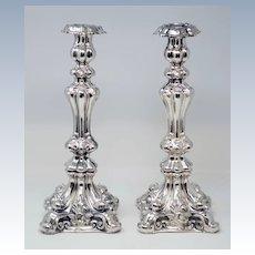 Judaica Shabbat Silver Candlesticks
