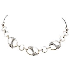 Danecraft Sterling Silver Marcasite Necklace