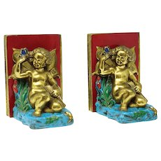 Victorian Figurative Putty Bookends