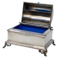Wilkox Silver Plated Jewelry Box