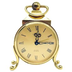 Vintage Looping Miniature Swiss Alarm Clock