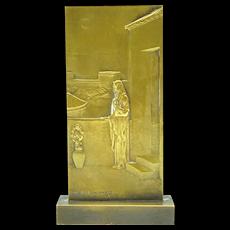 Bronze Bas Relief by Henri Dropsy