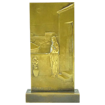 Bronze Bas Relief by Henri Dropsy