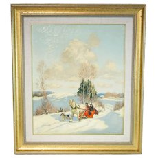 Frederick S. Coburn Painting The Red Sleigh
