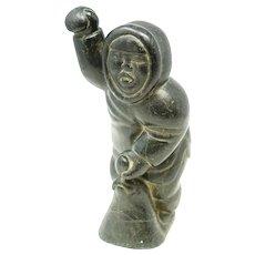 Inuit Eskimo Soapstone Statue