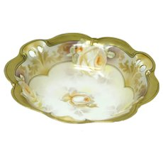 R.S. Germany Gold Gilt Serving Bowl