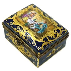 Sevres Porcelain 1774 Trinket Box