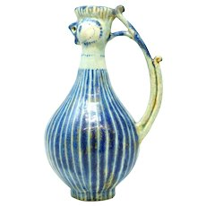 Kashan Pottery Persian Antique Ewer
