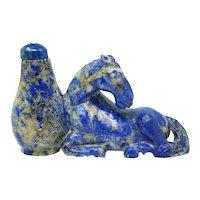 Lapis Lazuli 18-19th Century Snuff Bottle