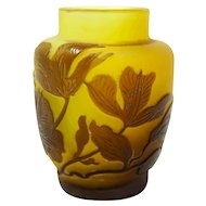Emile Galle Genuine Miniature Leaves Design Vase