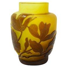 Emile Galle Genuine Miniature Leaves Design Vase