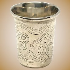 Imperial Russia Sterling Silver Kiddush Cup