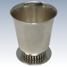 Jean Despres Art Deco Silvered Beaker