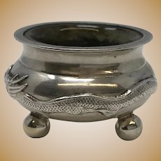 Chinese Export Silver Open Salt Cellar