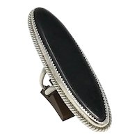 Navajo Sterling Onyx Ring