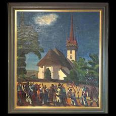 Marton Markosfalvi Barabas 1893-1974 Painting