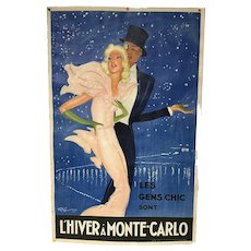 Jean Gabriel Domergue Poster l'Hiver a Monte Carlo