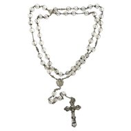 Sterling Silver Rock Crystal Rosary