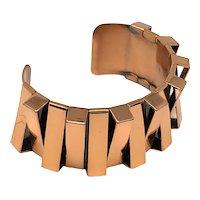 Renoir Modernist Copper Cuff Bracelet