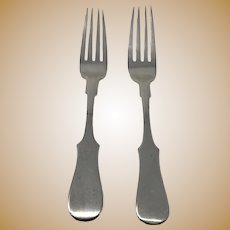 Imperial Russia Pair of Silver Forks