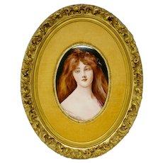 Hutschenreuther Porcelain Framed Lady Portrait