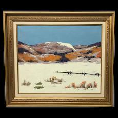 Paul Vanier Beaulieu Painting Winter Scene