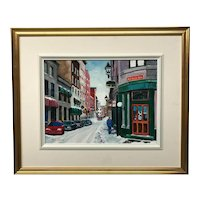 William E. Morris Rue Saint Paul Painting